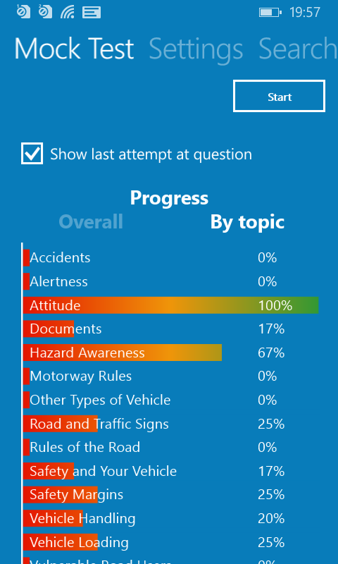 Theory Test for Car Drivers - windowsphone5