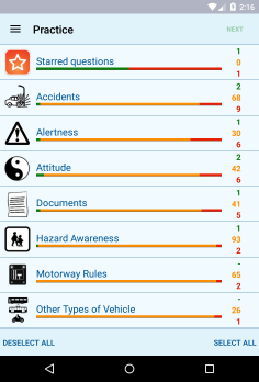 Theory Test for Car Drivers - android_phone3