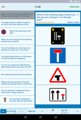 Theory Test for Car Drivers - android_tablet4