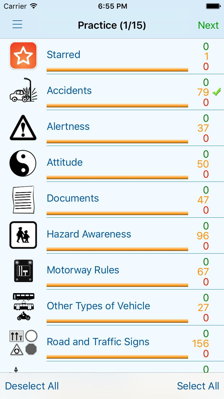 Theory Test for Car Drivers - iphone1